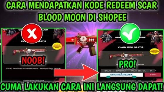 Kode Redeem FF Scar Blood Moon Shopee